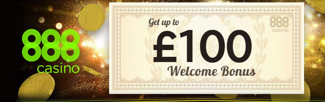 888 Casino 100 welcome bonus